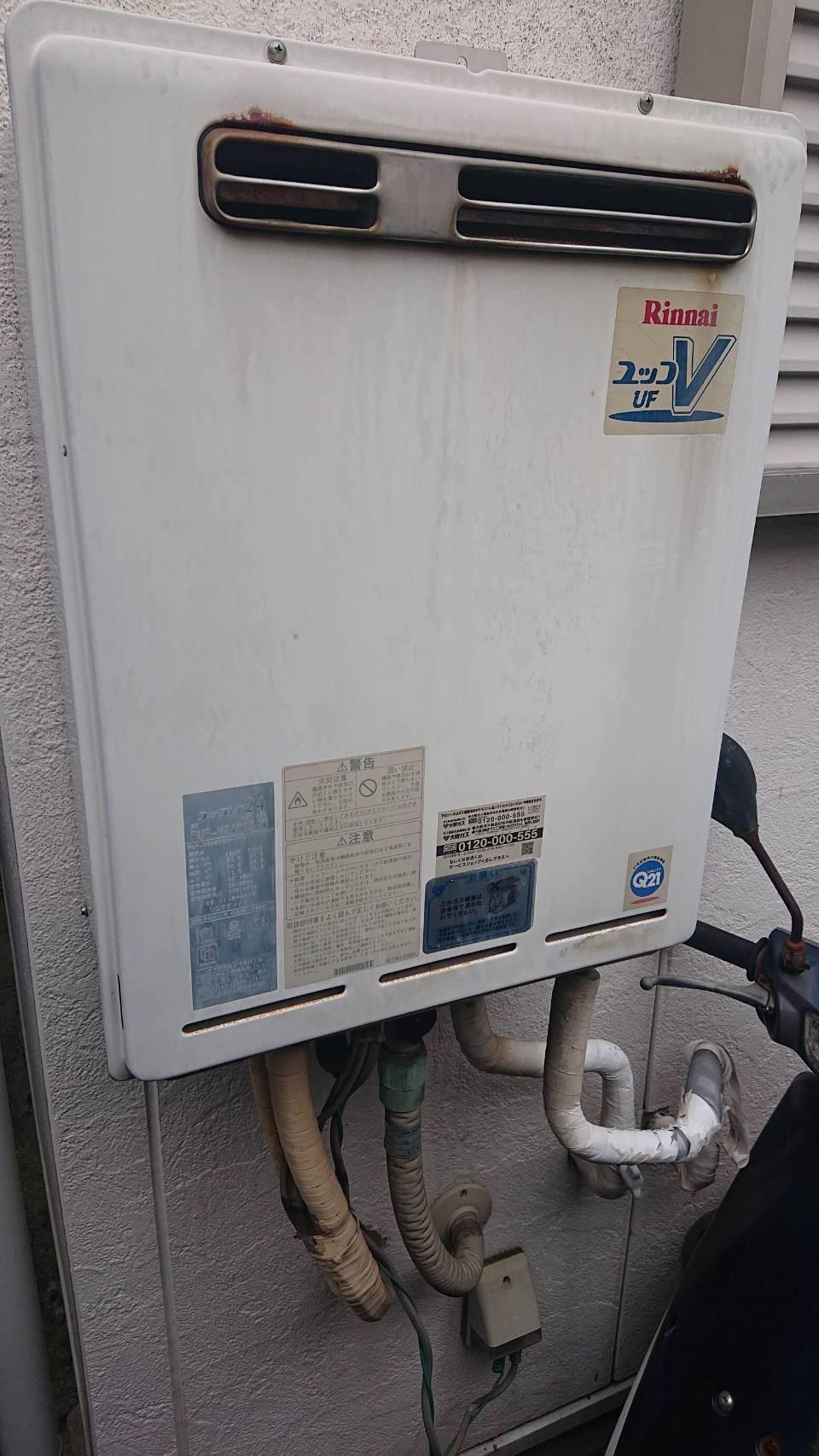 草津市給湯器施工事例②Before
